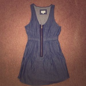 jean look zip dress